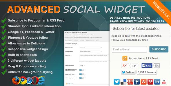 Advanced Social Widget v3 9 WordPress Plugin - vestathemes