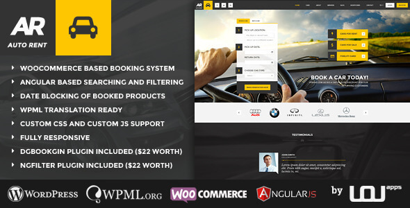 Auto Rent v2.0.7 – Responsive Car Rental WordPress Theme ...