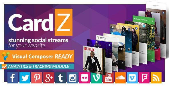 CardZ Social Stream for WordPress Plugin – CodeCanyon - vestathemes