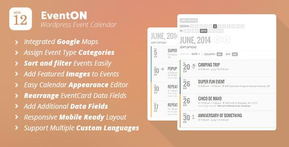 Eventon wordpress event calendar plugin ui elements pinterest.