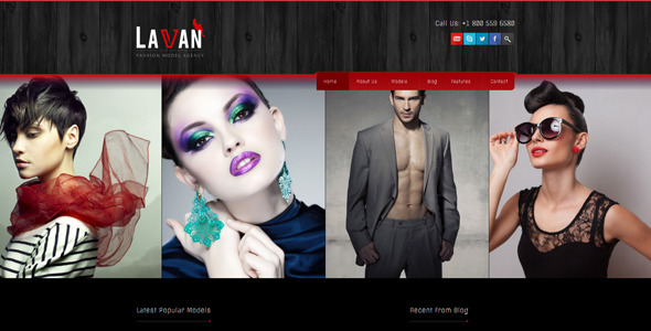 Lavan v3.3.3 – Fashion Model Agency WordPress CMS Theme ...