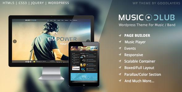 Music Club v1.09 – Music/Band/Club/Party WordPress Theme ...