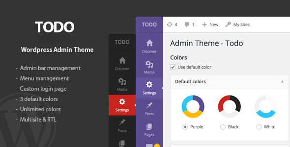 Todo v1.0.1 – WordPress Admin Theme & Login Page - vestathemes ...