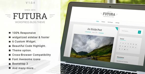 Futura v1.0.4 – Responsive Minimal WordPress Personal Blog Theme ...