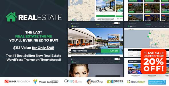 WP Pro Real Estate V Responsive Real Estate WordPress Theme - Real estate template wordpress