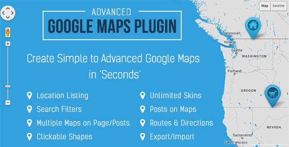 WP Google Map Pro v3.4.5 – WordPress Advanced Google Maps Plugin on