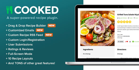 Cooked v241 a super powered recipe plugin vestathemes download forumfinder Choice Image