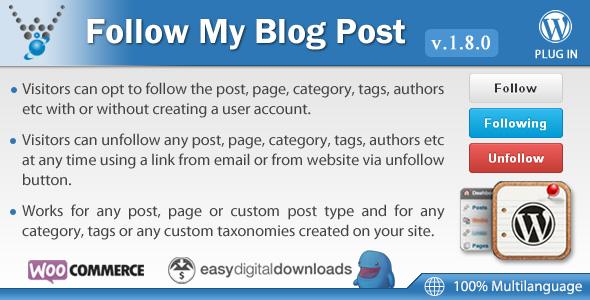 Follow My Blog Post v1 8 0 – WordPress Plugin - vestathemes