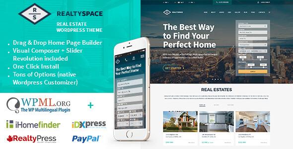 Realtyspace v1.4.10 – Responsive Real Estate WordPress Theme ...