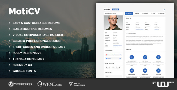 Moticv v1.0.1 – vCard and Resume Builder WordPress Theme ...