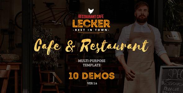 Lecker Restaurant v1 3 – Cafe & Restaurant HTML5 Template