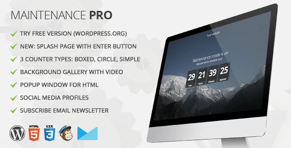 Download Free Maintenance PRO WordPress plugin v3.6