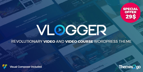Vlogger v1.4.1 – Professional Video & Tutorials WordPress Theme ...