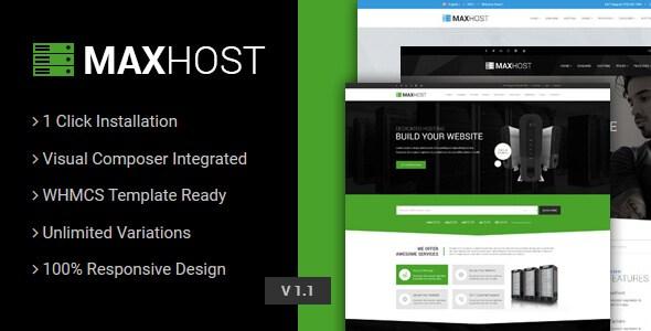 MaxHost v2.5.1 – Web Hosting, WHMCS & Business WordPress Theme ...