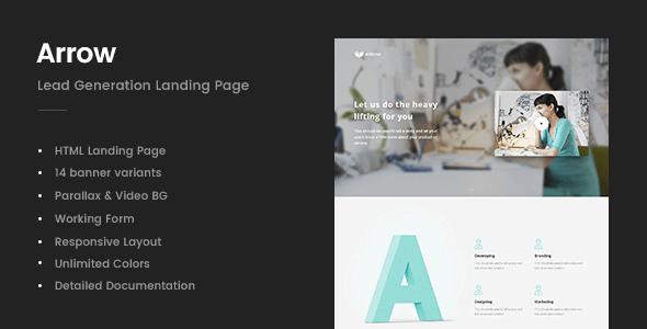 Arrow v1.0 – Lead Generation Landing Page Site Template ...