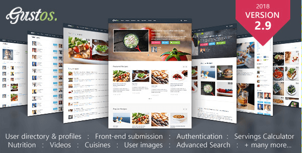Gustos v293 community driven food recipes wordpress theme download free gustos wordpress theme v293 forumfinder Image collections