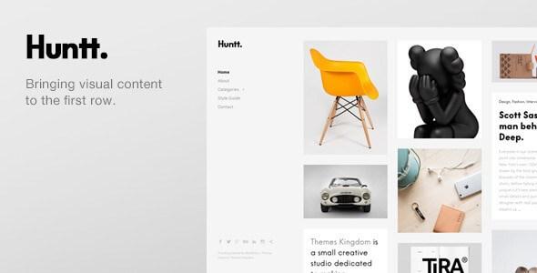 Huntt V1 4 4 Personal Blog Portfolio Wordpress Theme