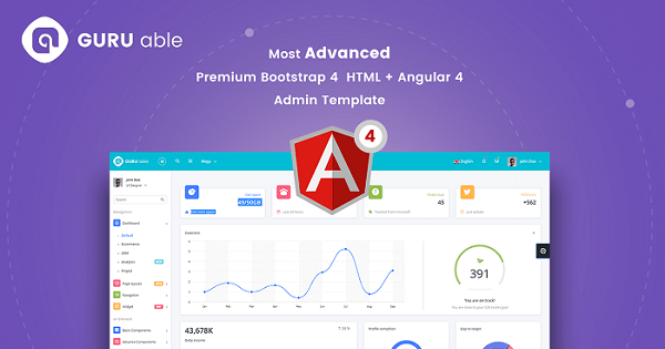 Guru Able BS 4 & Angular 4 Dashboard - vestathemes - Download Free ...