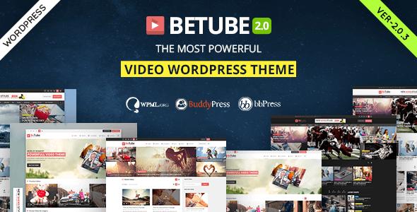 Betube v2.0.3 – Responsive Video WordPress Theme - vestathemes ...