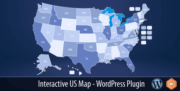 Interactive Us Map Simple Design Interactive Maps For WordPress Free ...
