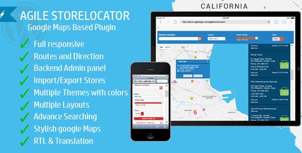 Agile Store Locator v3 1 3 – Premium WordPress plugin