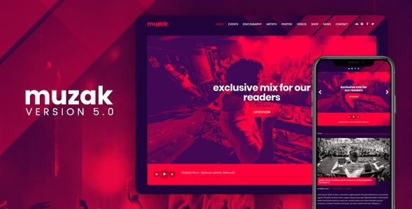 Muzak v5.2 - Music WordPress theme - vestathemes - Download Free ...