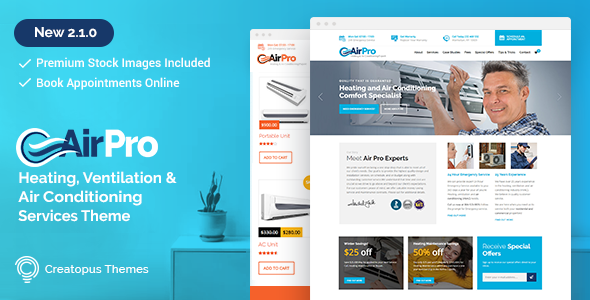 AirPro v2.1.2 - Heating and Air conditioning WordPress Theme for ...