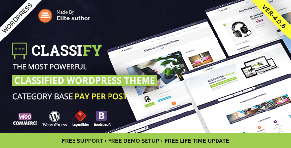 Classify v4 0 4 - Classified Ads WordPress Theme