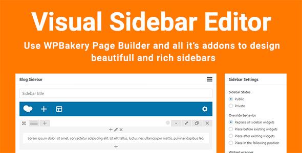 Visual Sidebar Editor v1 2 5 - vestathemes - Download Free