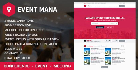 EventMana v1 8 1 - Event Management WordPress Theme - vestathemes