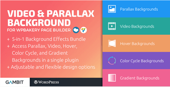 Video & Parallax Backgrounds for WPBakery Page Builder v4 8