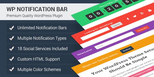 Download] wp notification bar pro v1. 1. 30 nulled.