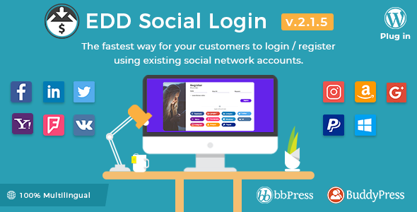 Easy Digital s - Social Login v2 1 5 - vestathemes