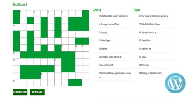 Wordpress Responsive Crossword Puzzle Game V1 0 Vestathemes