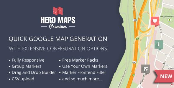 Hero Maps Premium v2.1.6 - Responsive Google Maps Plugin ... Download Free Google Maps on