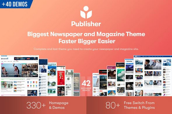 Publisher v7.7.0 NULLED – WordPress News Template