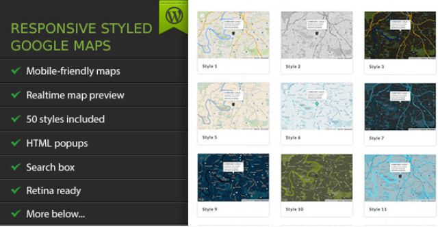 Responsive Styled Google Maps v4.6 – Premium WordPress ... on android download free, 3d street maps free, google earth 2012, animation download free, street map template free, map clip art free, google maps print free,